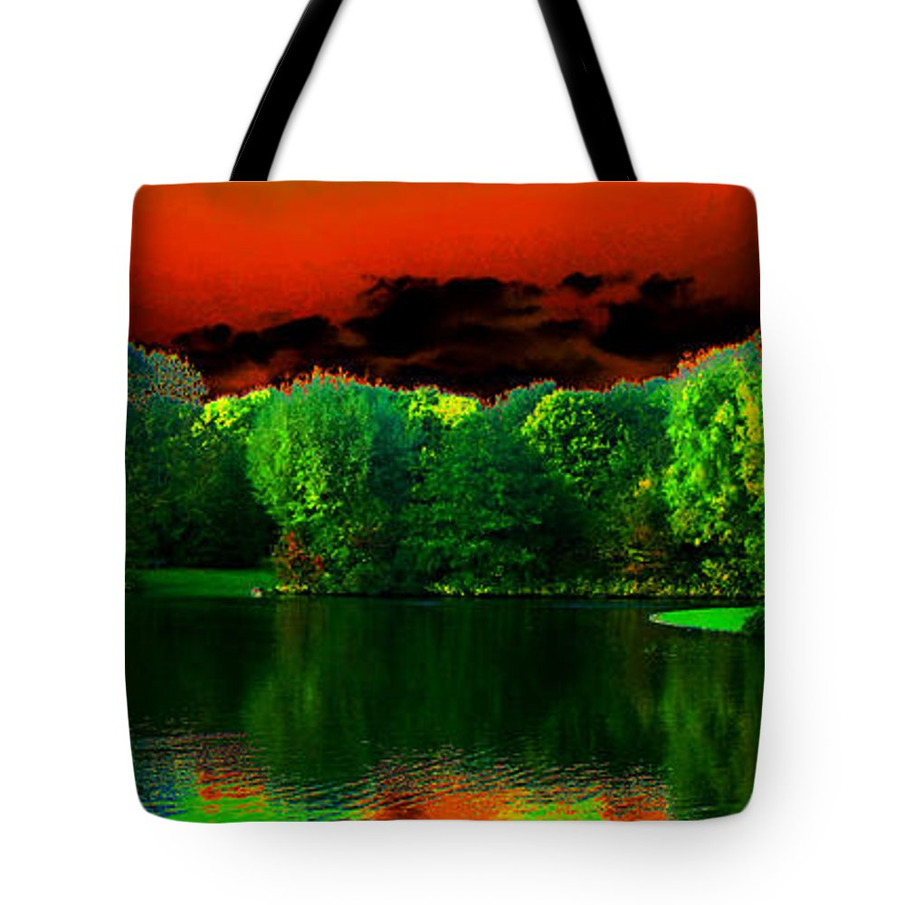 Landscape Tote Bag featuring the photograph A Walk In The Park 1 by Rudi Prott