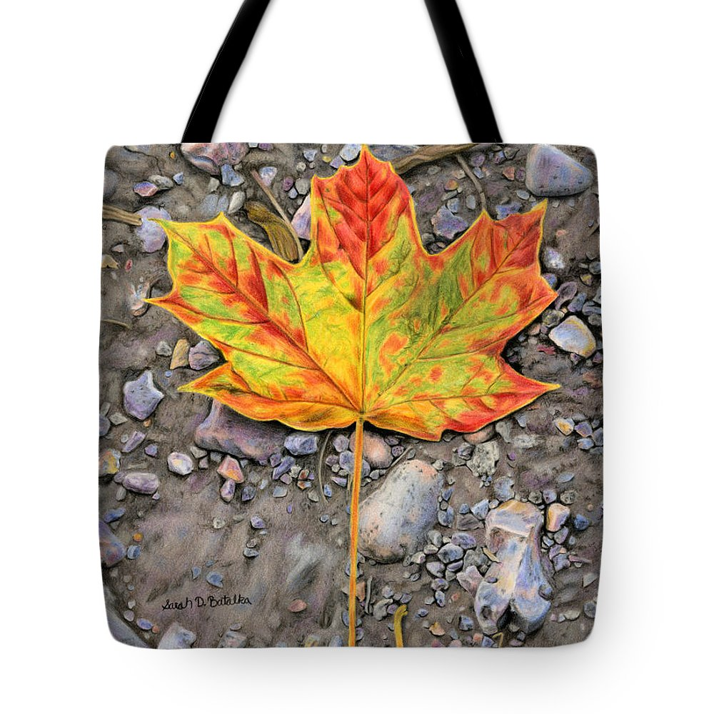Autumn Tote Bag featuring the painting A Walk Through The Woods by Sarah Batalka