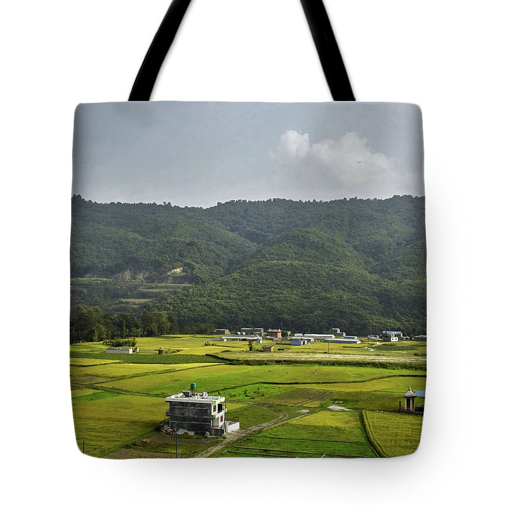 Landscape Tote Bag featuring the photograph A Watcher In The Hill by Rochak Timilsina