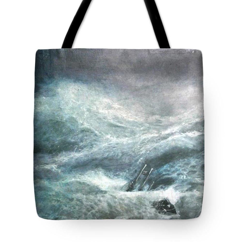 Aivazovsky Tote Bag featuring the painting a wave my way by Jarko by Jarmo Korhonen aka Jarko