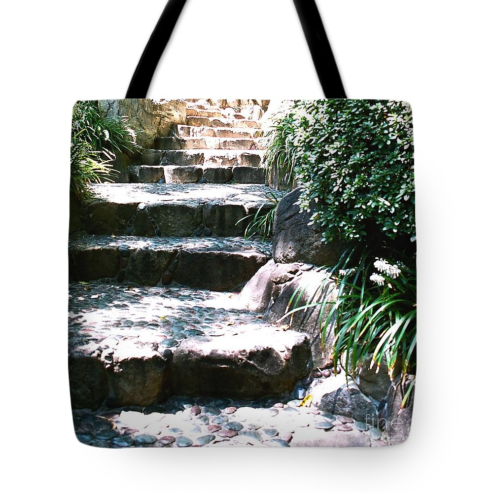 Stairs Tote Bag featuring the photograph A Way Out by Dean Triolo