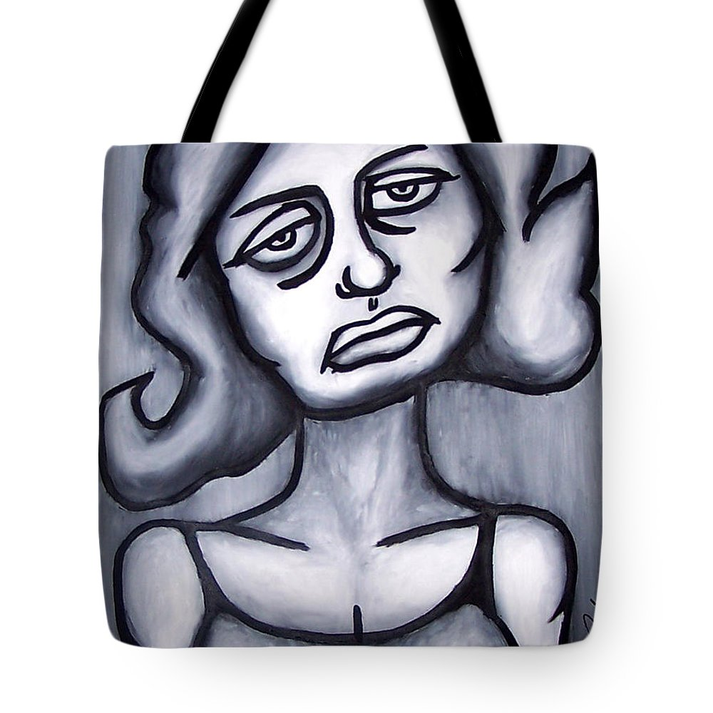Portait Tote Bag featuring the painting A Woman by Thomas Valentine