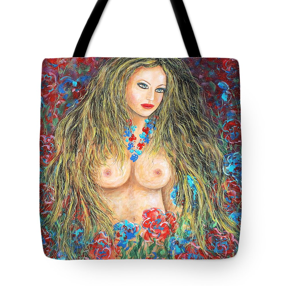 Female Tote Bag featuring the painting A Woman's Heart by Natalie Holland