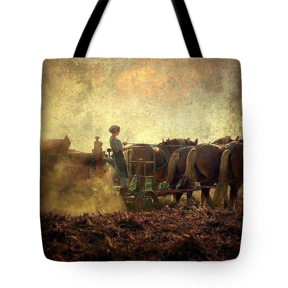 Woman Tote Bag featuring the photograph A Woman's Work Is Never Done by Trish Tritz