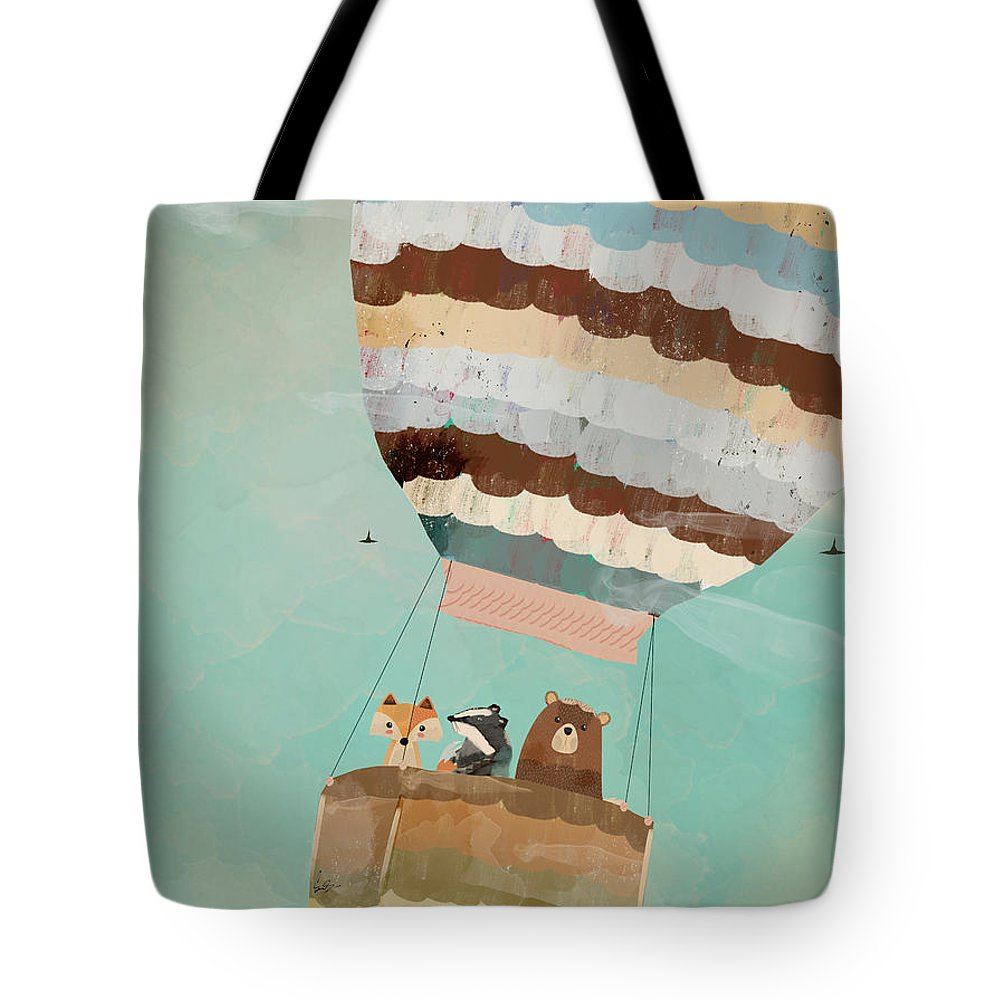 Animals Tote Bag featuring the painting A Wondrous Little Adventure by Bri Buckley