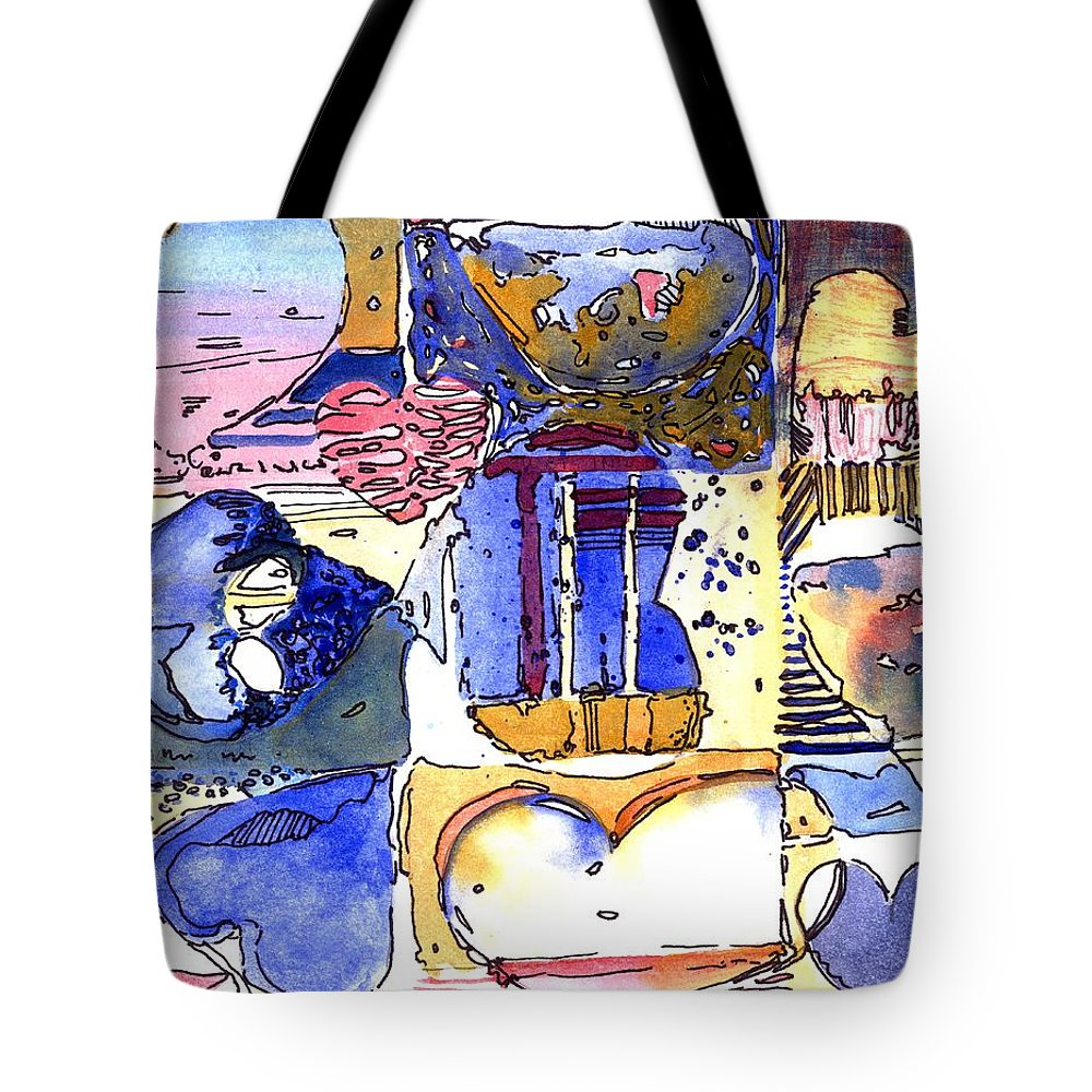 Valentine Tote Bag featuring the painting A Zanny Valentine by Mindy Newman