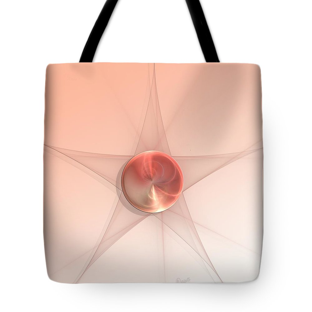 Fractal Tote Bag featuring the digital art a029 Hall of Flame by Drasko Regul