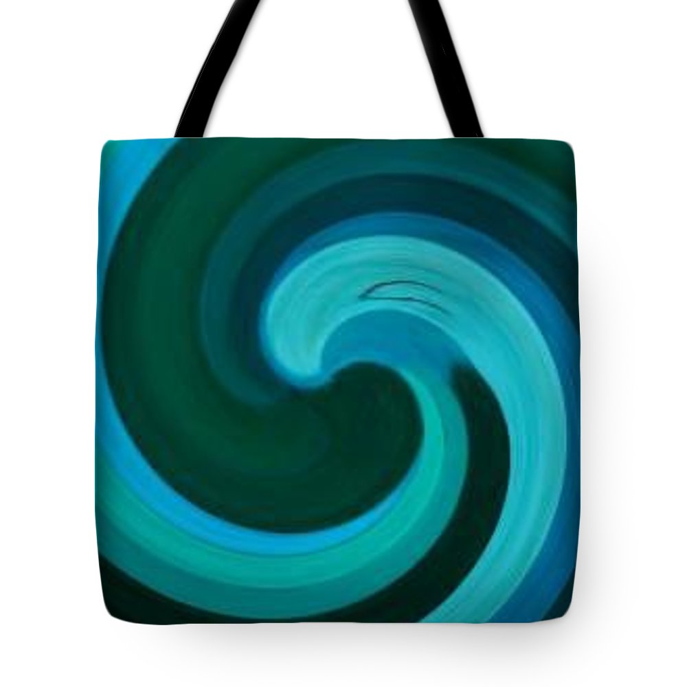 Continuious Tote Bag featuring the digital art A77 by Andrew Johnson
