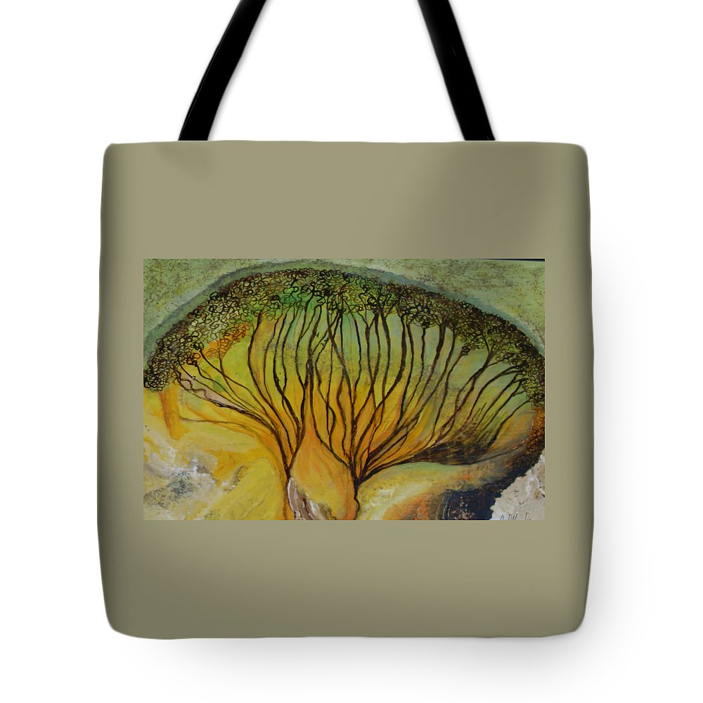 Tote Bag featuring the painting AA dream by Carol P Kingsley