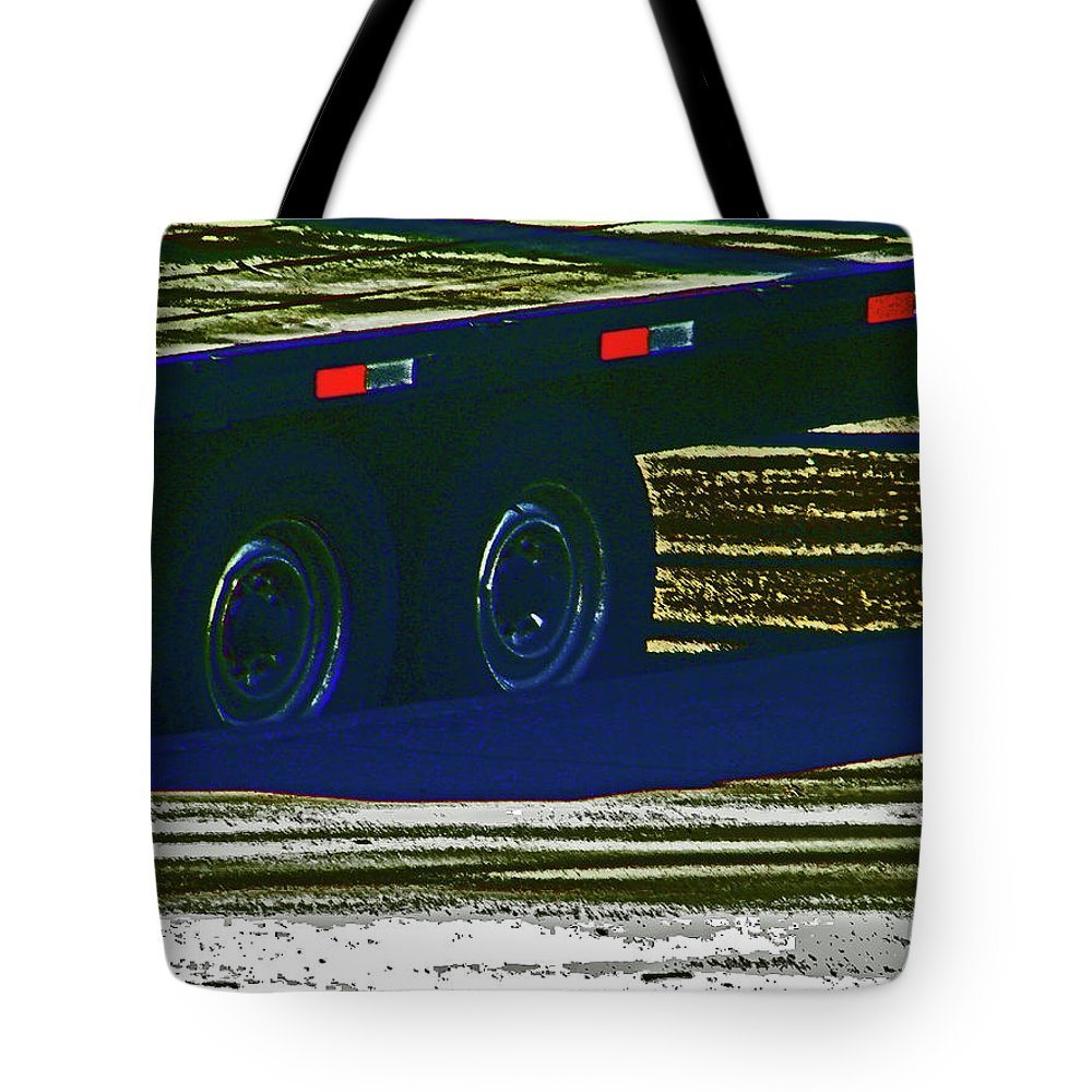 Abstract Tote Bag featuring the photograph Aaron's Flatbed by Lenore Senior