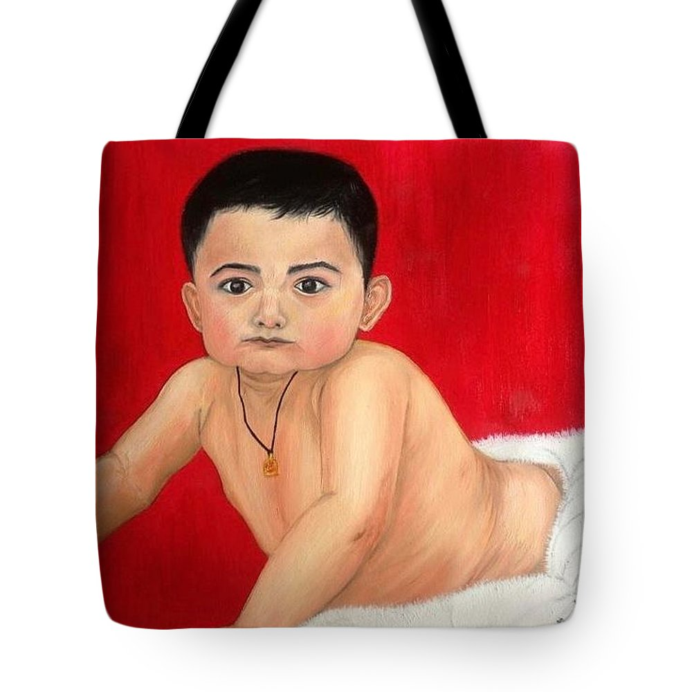 Son Tote Bag featuring the painting Aaryan by Ankita Gupta