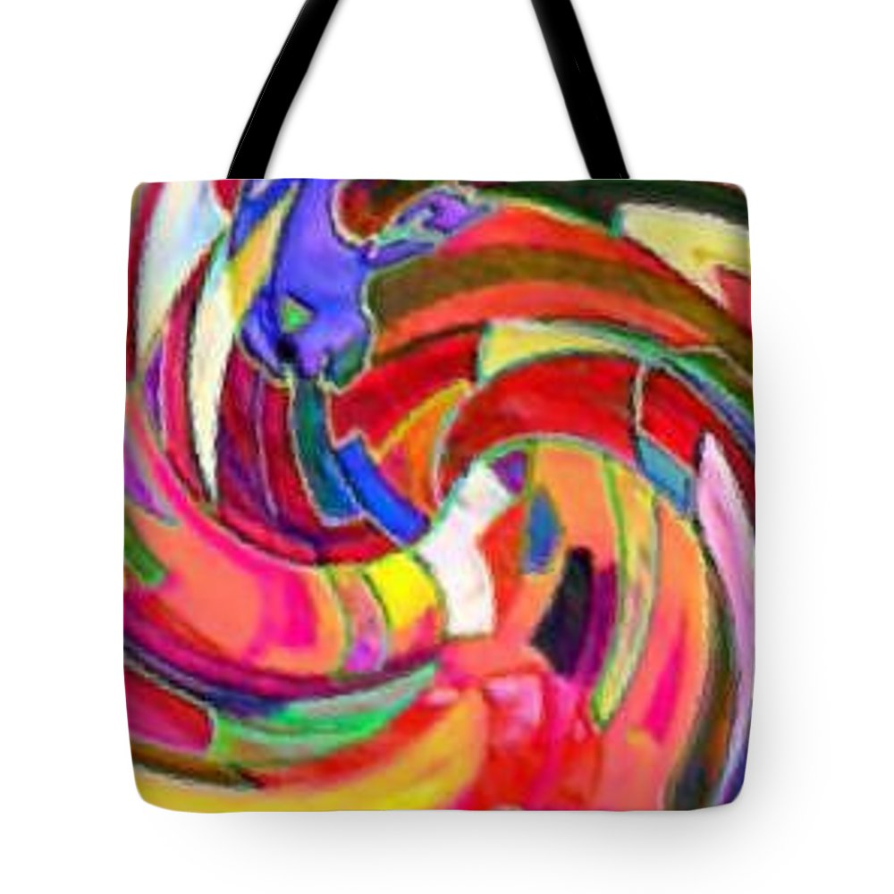 Digital Image Tote Bag featuring the digital art AB by Andrew Johnson