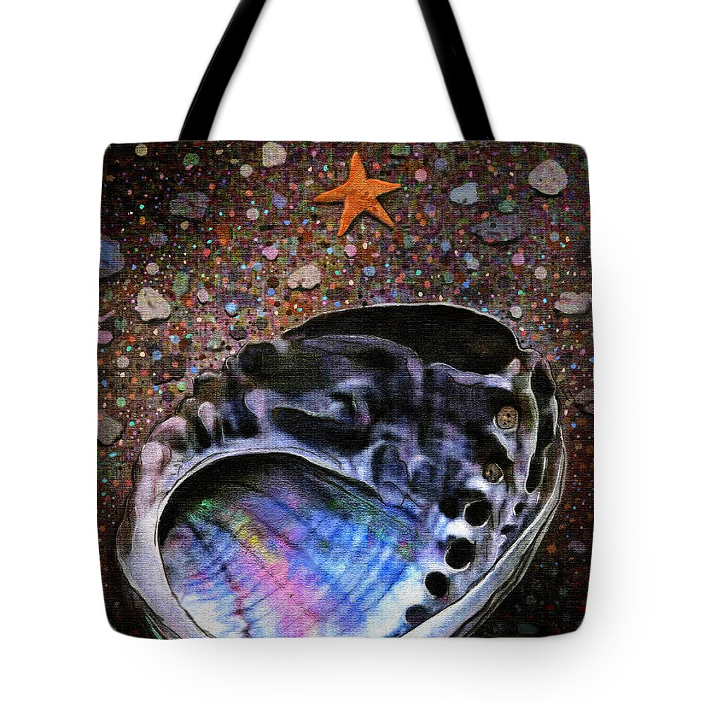 Seascape Tote Bag featuring the painting Abalone by Robert Foster
