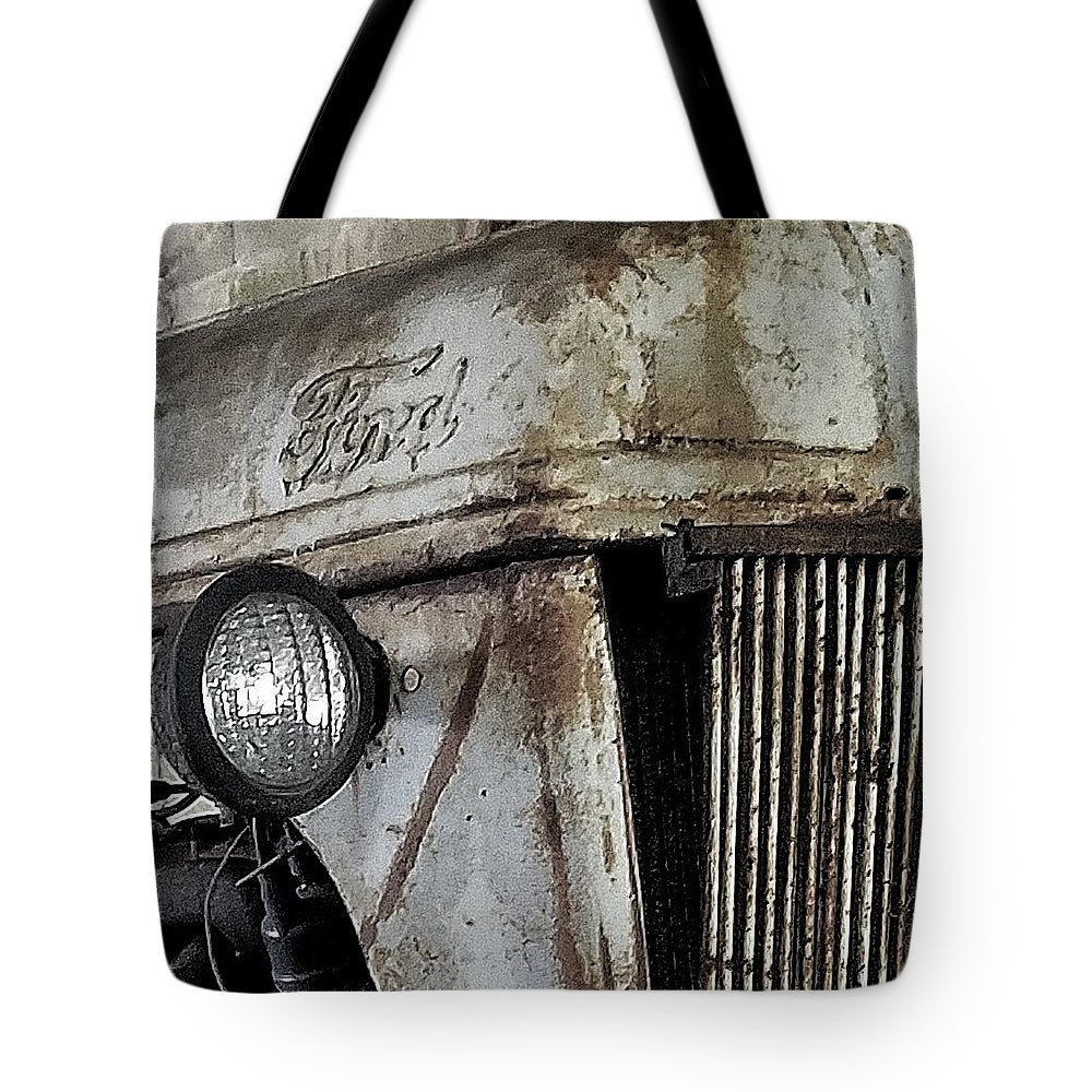 Abandon Tote Bag featuring the photograph Abanded Tractor 4 by Ed Lumbert