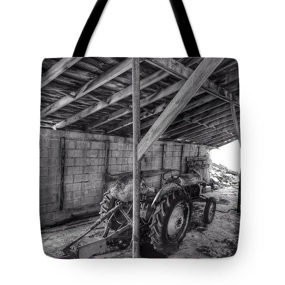 Abandon Tote Bag featuring the photograph Abanded Tractor 5 by Ed Lumbert