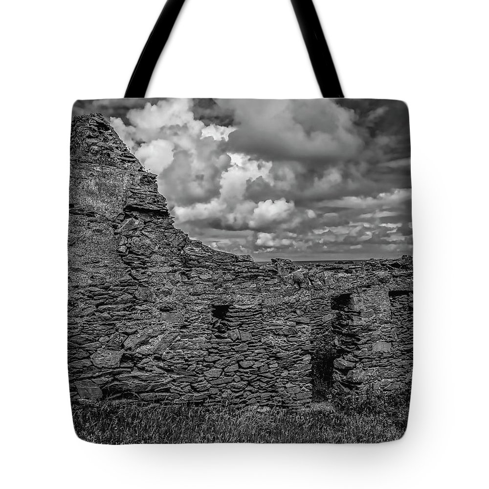 Black And Whiote Tote Bag featuring the photograph Abandoned 5 Bw. by Leif Sohlman