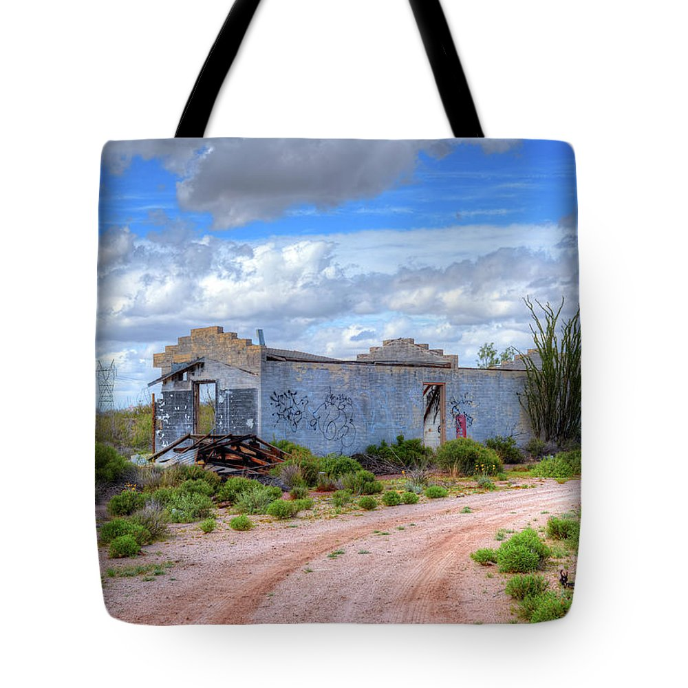 Abandoned Tote Bag featuring the photograph Abandoned Building by Paul Moore