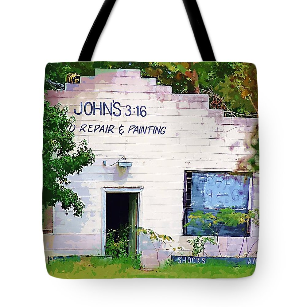 John 3:16 Tote Bag featuring the photograph Abandoned by Donna Bentley