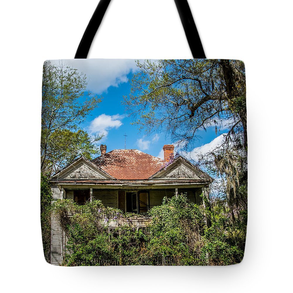 Empty Tote Bag featuring the photograph Abandoned Mansion by Alicia Collins