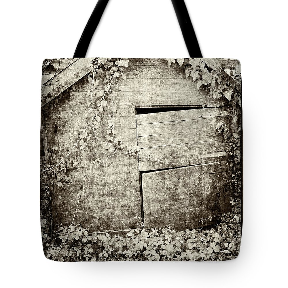 Playhouse Tote Bag featuring the photograph Abandoned Playhouse by Elisabeth Lucas