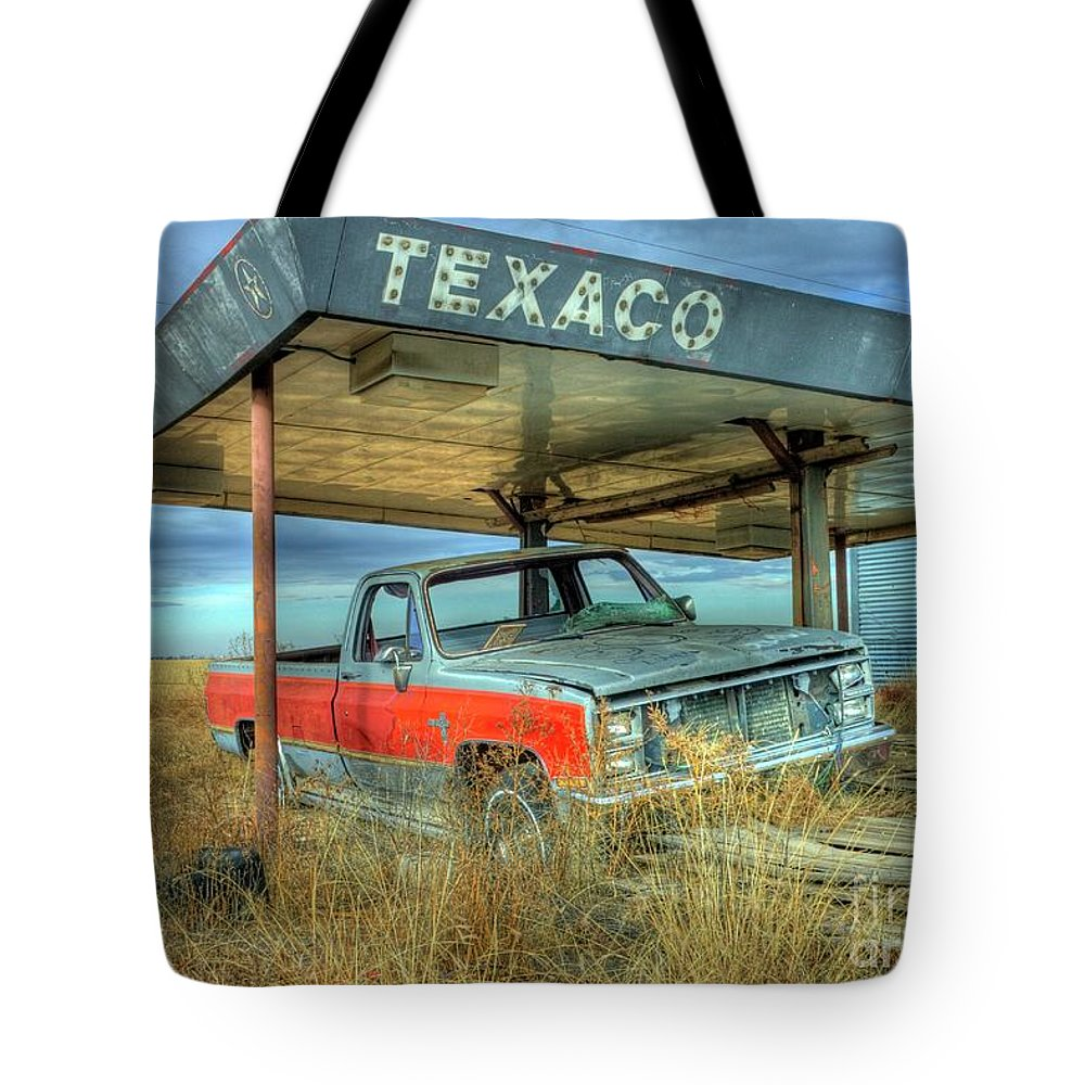 Abandoned Tote Bag featuring the photograph Abandoned Silverado by Tony Baca
