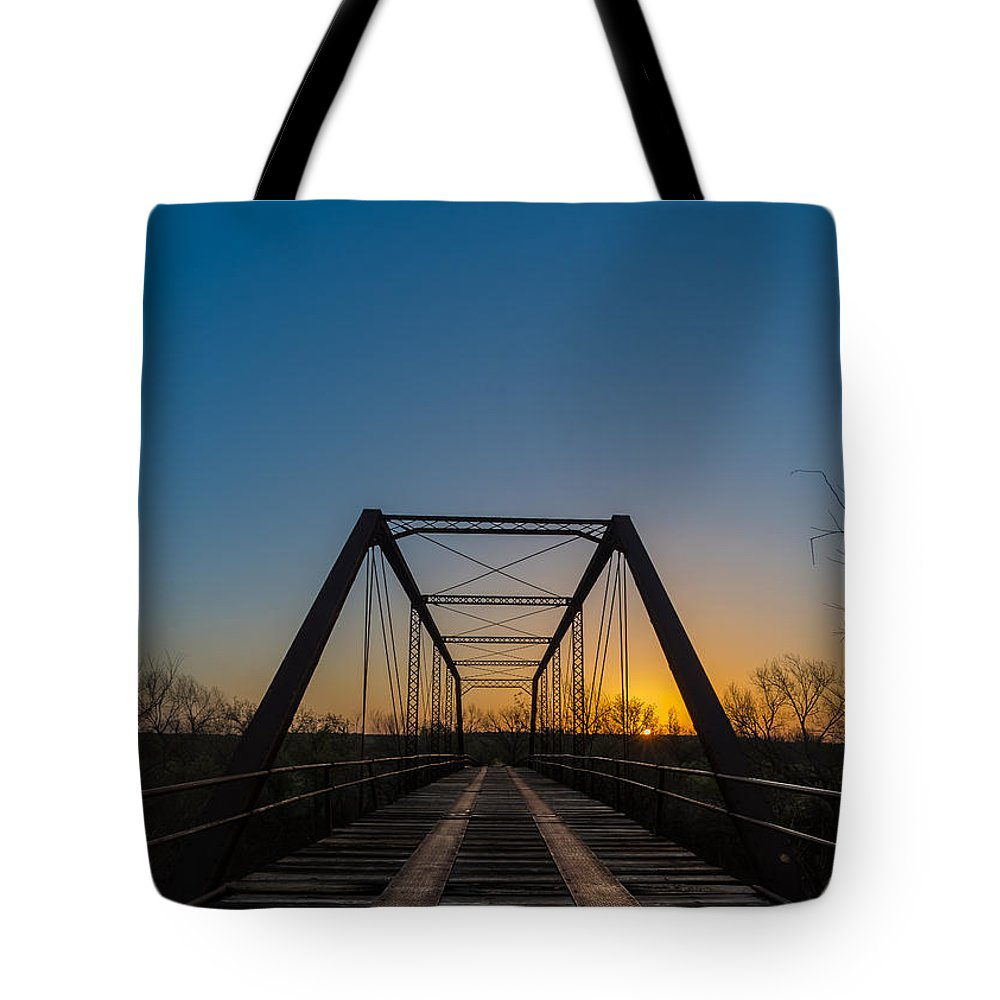 Tote Bag featuring the photograph Abandoned Steel Bridge by David Downs