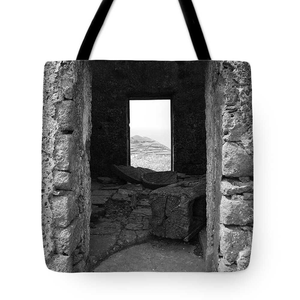Abandoned Tote Bag featuring the photograph Abandoned Windmill by Gaspar Avila