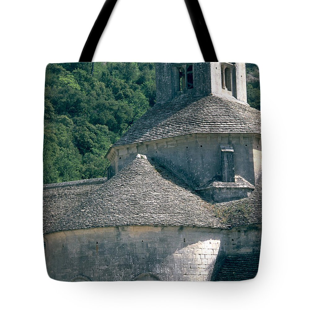 Abbeye De Senanque Tote Bag featuring the photograph Abbeye De Senanque by Flavia Westerwelle