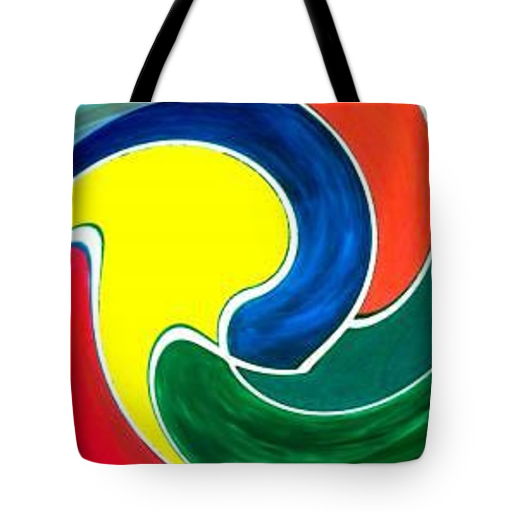 Digitalized Tote Bag featuring the digital art Abbs by Andrew Johnson