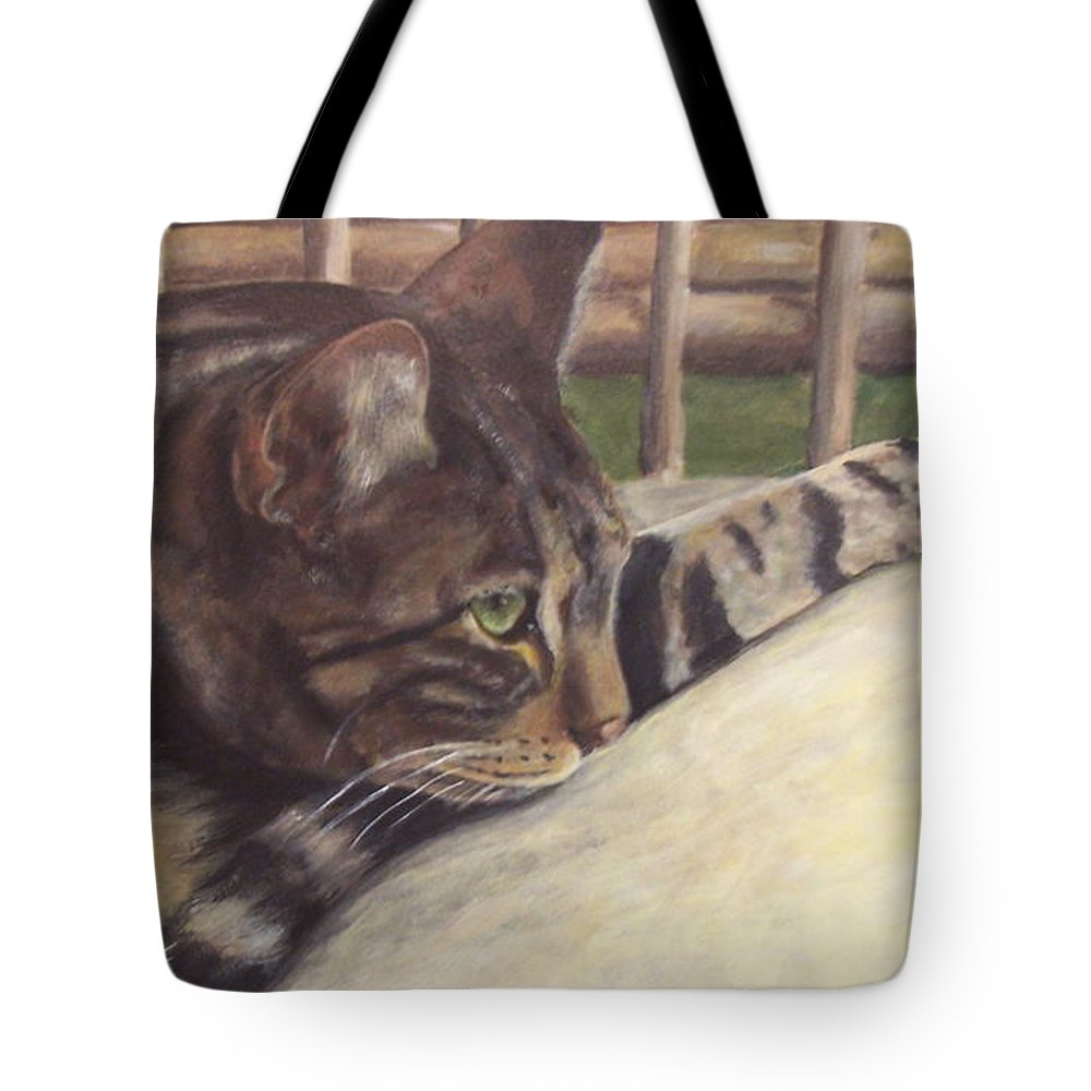 Cat Tote Bag featuring the painting Abby by Elizabeth Ellis