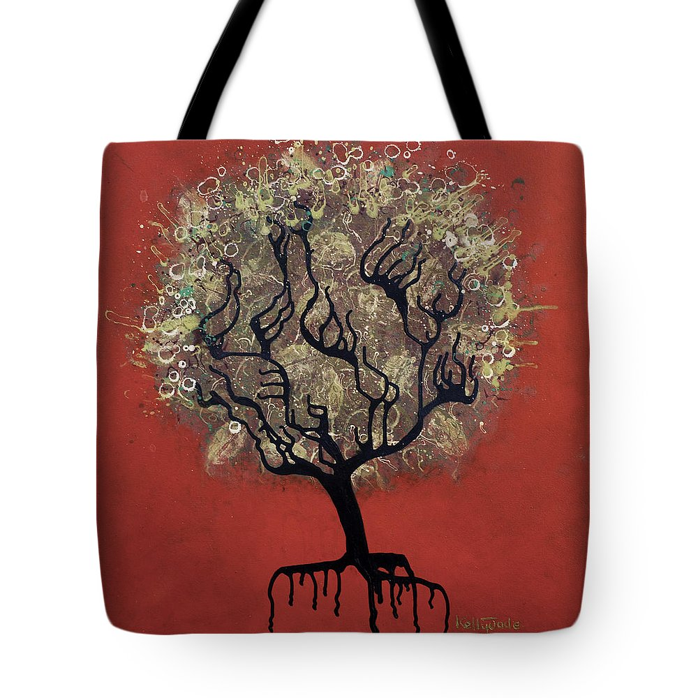 Tree Tote Bag featuring the painting Abc Tree by Kelly Jade King