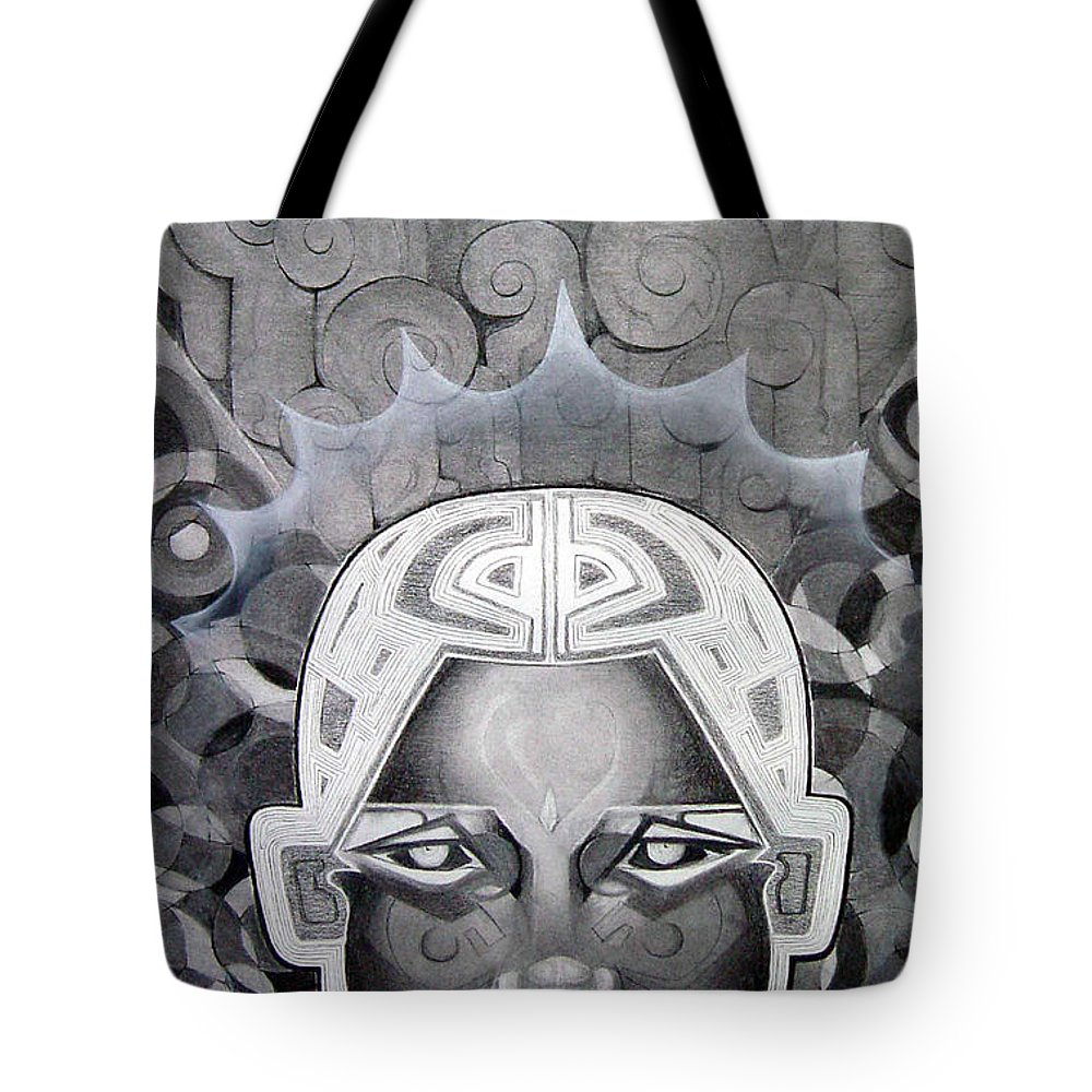 Art Tote Bag featuring the drawing Abcd by Myron Belfast