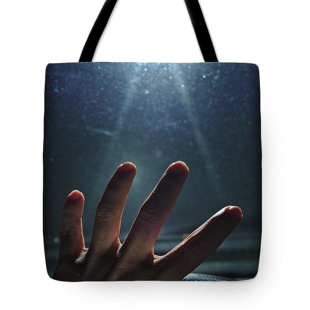 Encounter Tote Bag featuring the photograph Abducted by Angelo DeVal