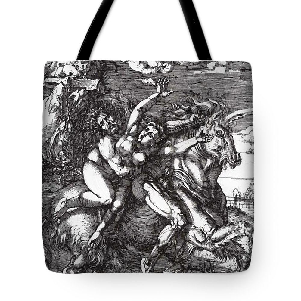 Abduction Tote Bag featuring the painting Abduction Of Proserpine On A Unicorn 1516 by Durer Albrecht