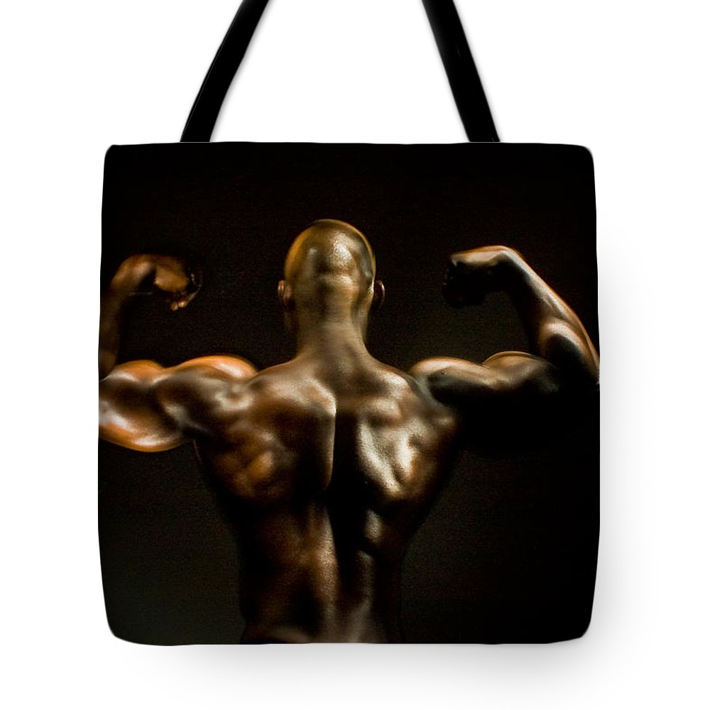 Human Form Tote Bag featuring the photograph Abe 5745 by Timothy Bischoff
