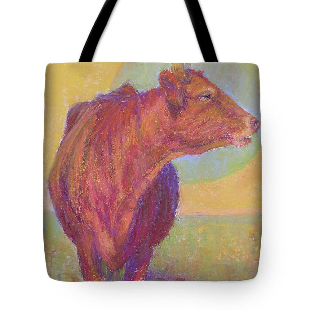 Cows Tote Bag featuring the painting Abigail by Susan Williamson