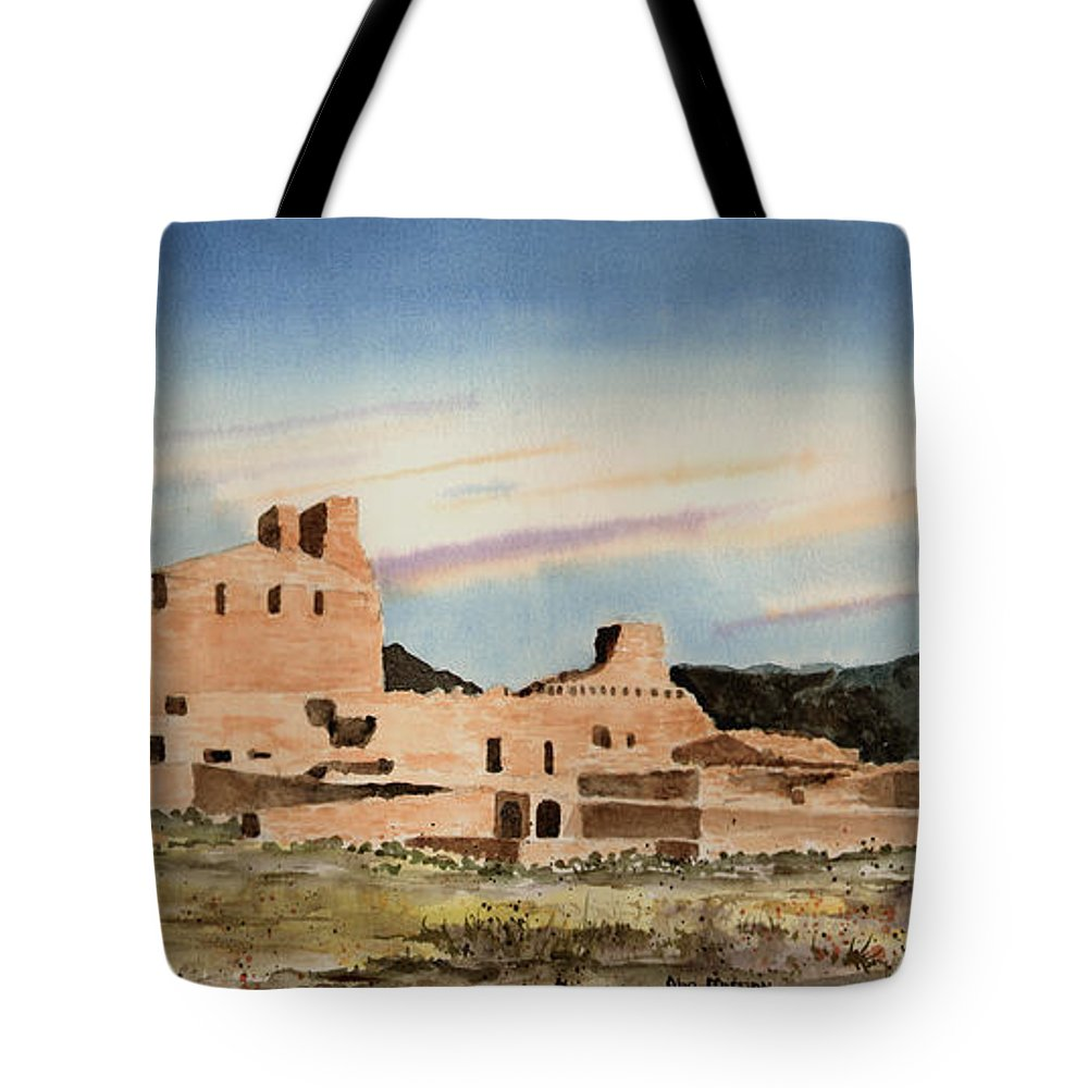 Mission Tote Bag featuring the painting Abo Mission by Sam Sidders