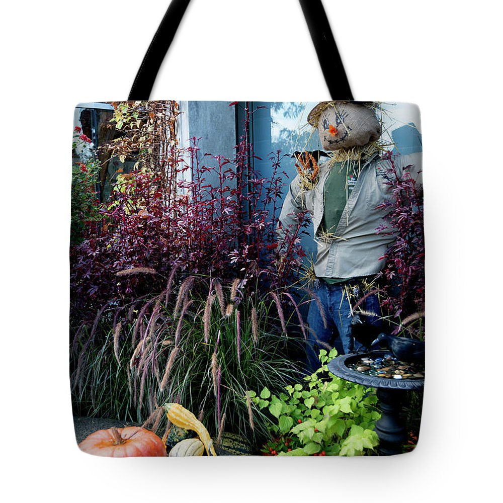 Outdoor Tote Bag featuring the photograph About Autumn 1. by Andrew Kim