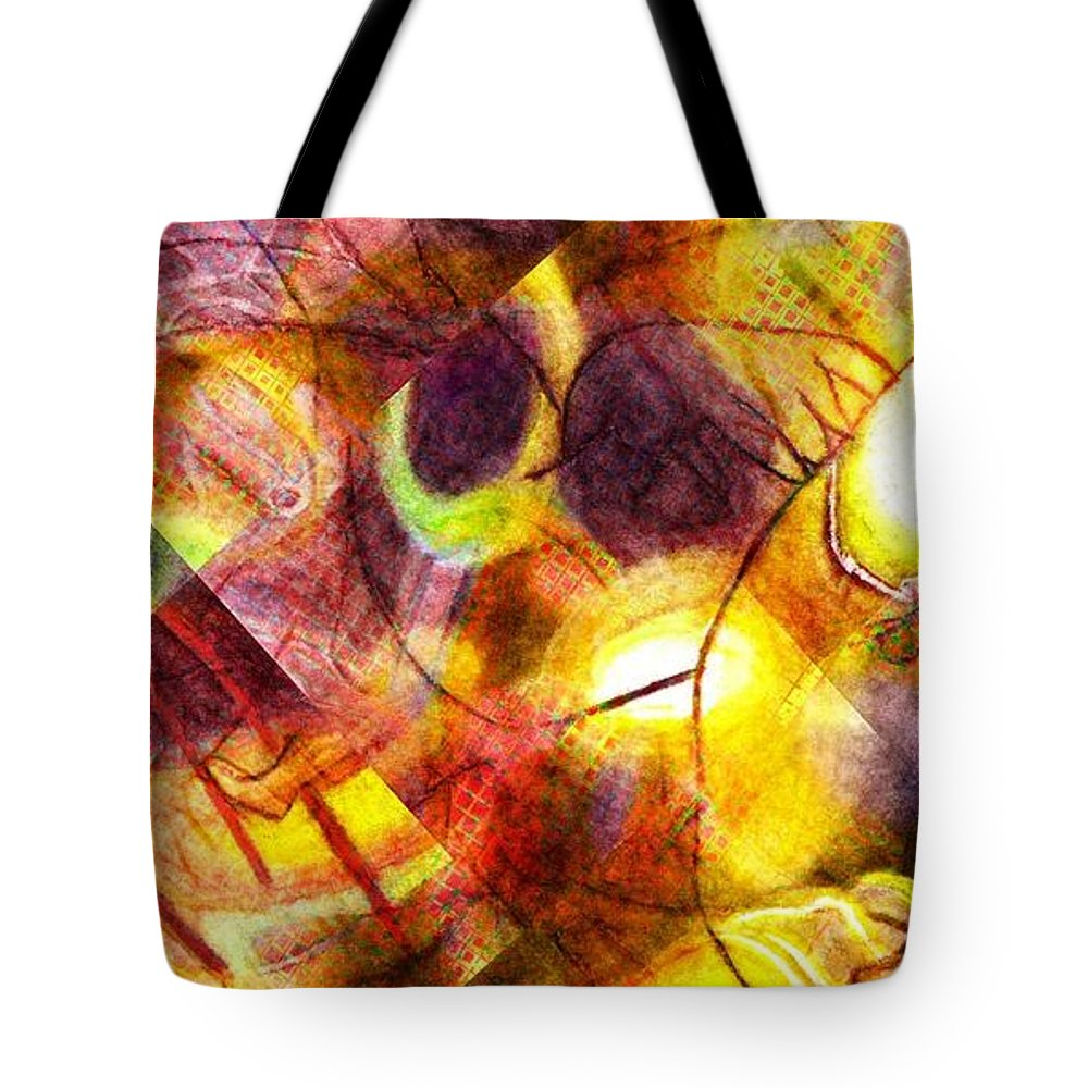 Tote Bag featuring the digital art Above And Beyond Scramble by Jeffrey Todd Moore