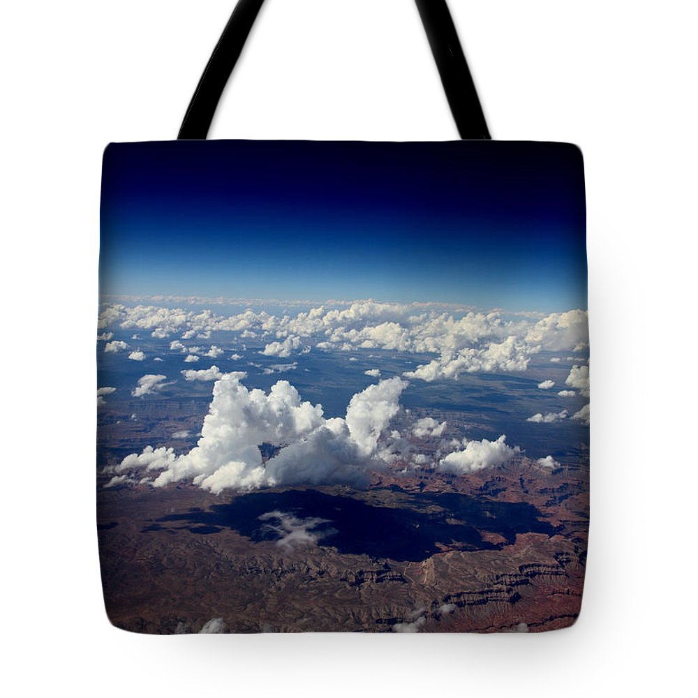 Landscape Tote Bag featuring the photograph Above The Clouds by David Salter