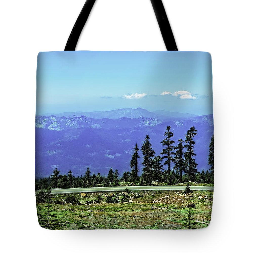 Mountain Tote Bag featuring the photograph Above The Smoke by Nancy Marie Ricketts