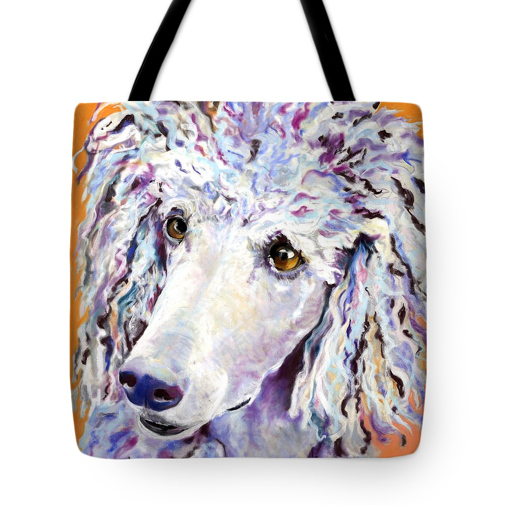 Standard Poodle Tote Bag featuring the pastel Above The Standard  by Pat Saunders-White