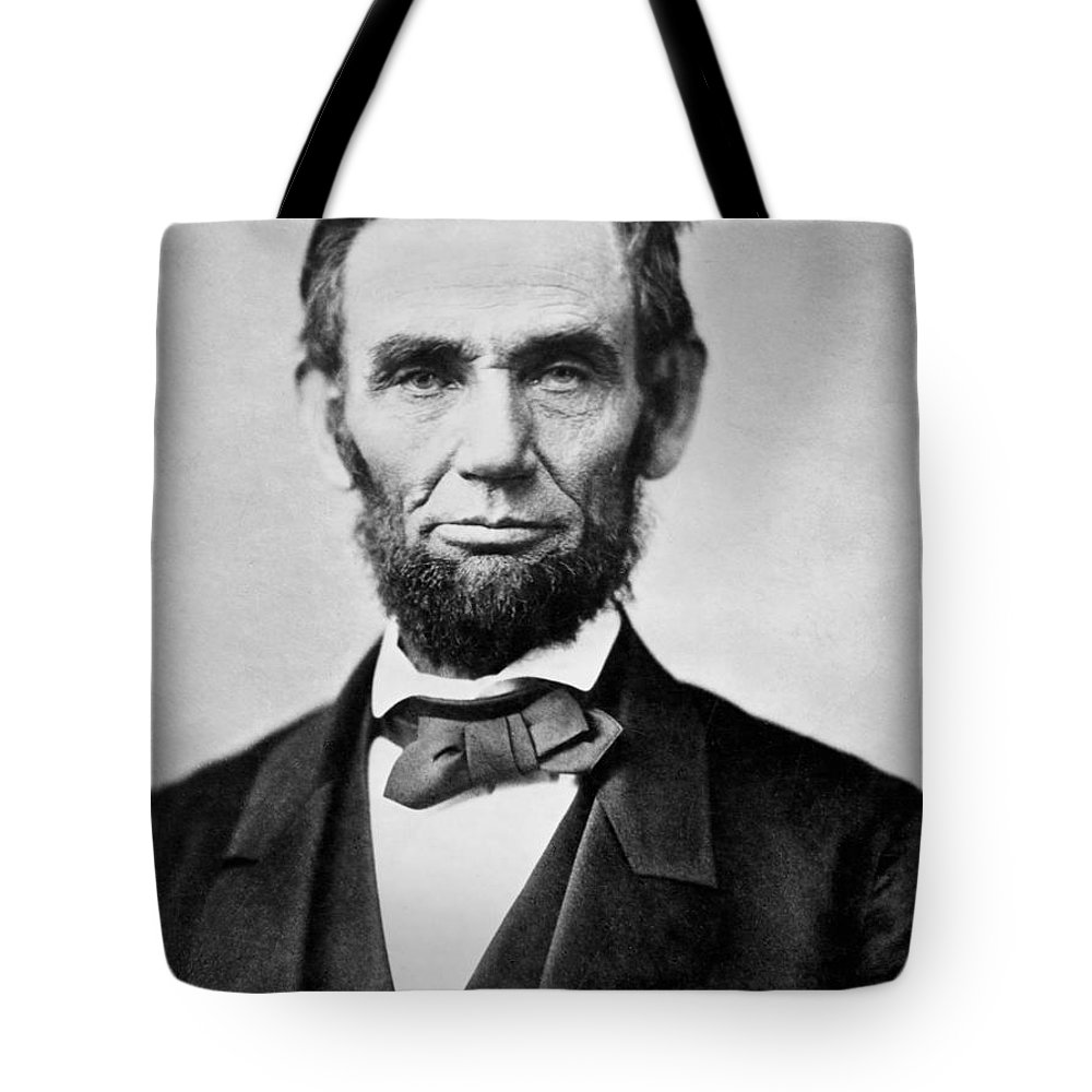 abraham Lincoln Tote Bag featuring the photograph Abraham Lincoln - Portrait by International Images