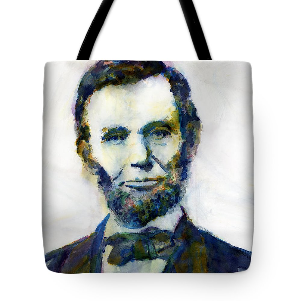 Abraham Tote Bag featuring the painting Abraham Lincoln Portrait Study 2 by Hailey E Herrera
