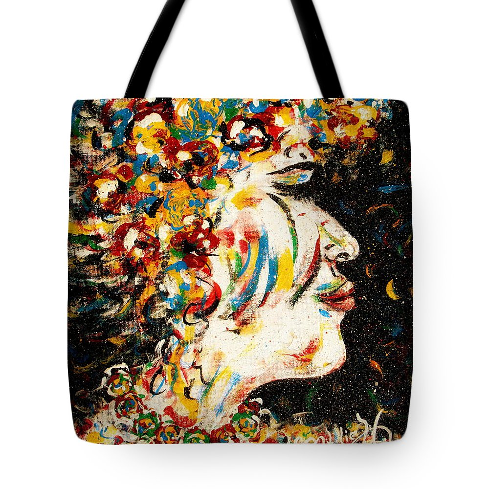 Woman Tote Bag featuring the painting Absolutely Not by Natalie Holland