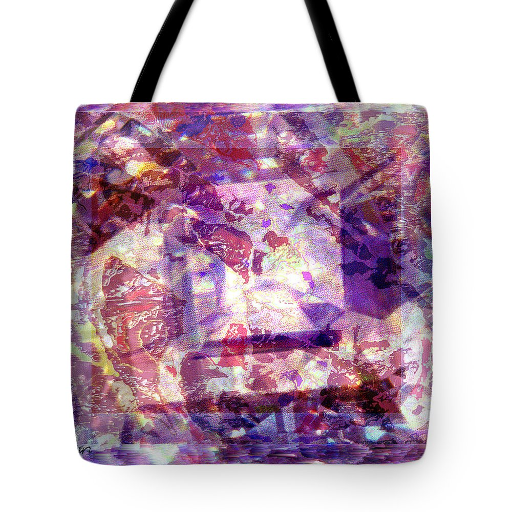 Abstract Tote Bag featuring the digital art Abstacked by Seth Weaver