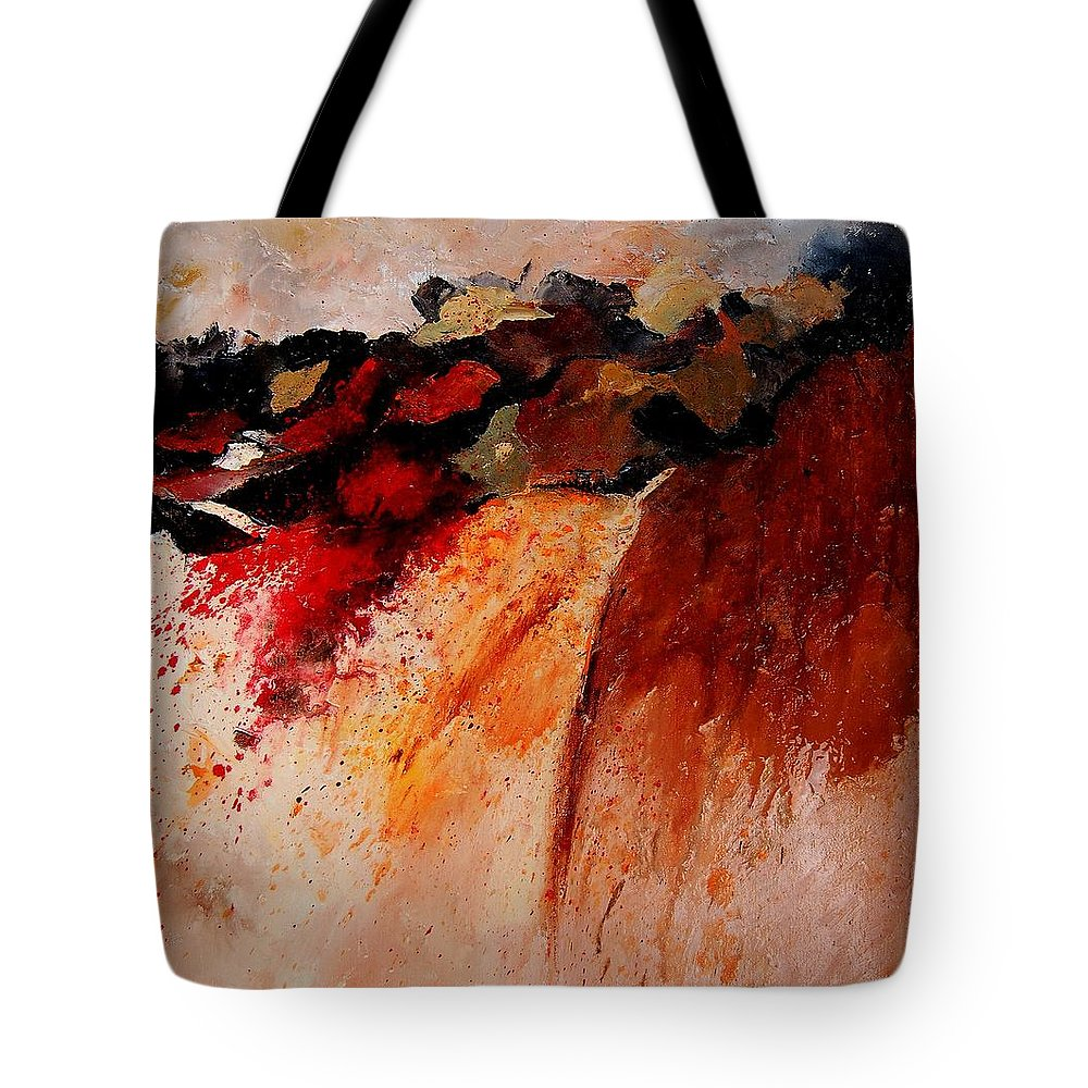 Abstract Tote Bag featuring the painting Abstract 010607 by Pol Ledent