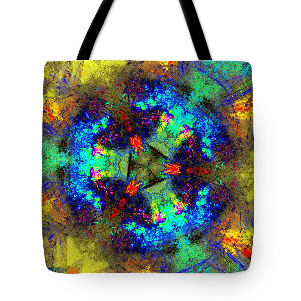 Abstracts Tote Bag featuring the digital art Abstract 012211 by David Lane