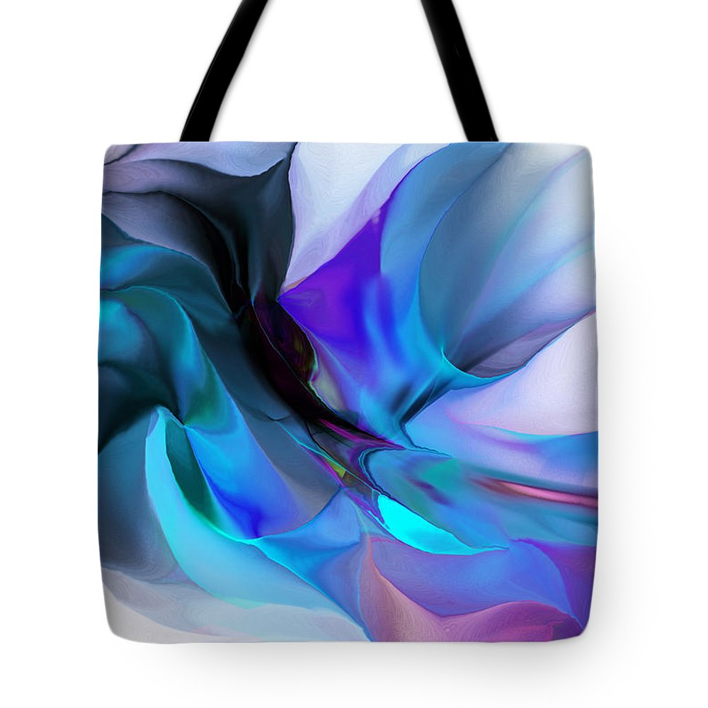 Fine Art Tote Bag featuring the digital art Abstract 012513 by David Lane
