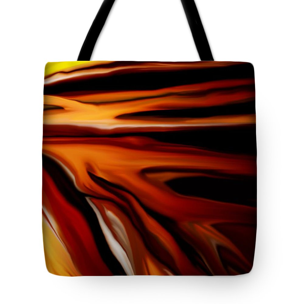 Digital Painting Tote Bag featuring the digital art Abstract 02-12-10 by David Lane
